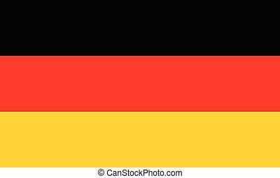 color), pays, national, jaune, (black, drapeau, allemagne, rouges
