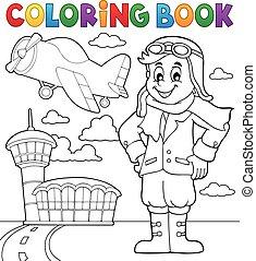 coloration, aviation, livre