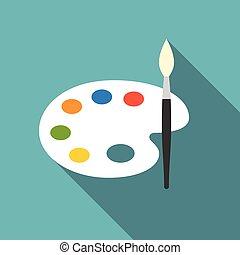 colorez palette, vecteur, icône