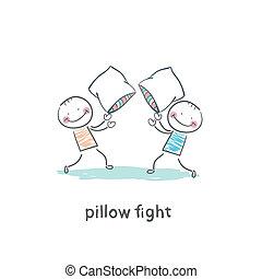 combats, oreiller