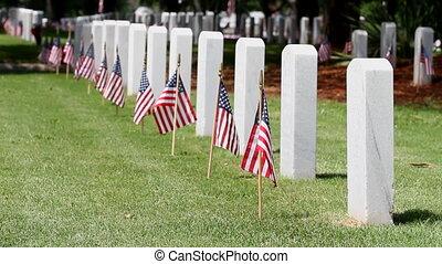 commémoratif, cimetière, jour