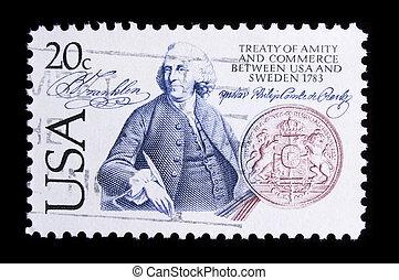 commémoratif, timbre, nous, affranchissement, vendange
