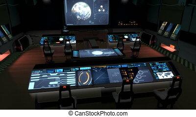 commande, science-fiction, v2., futuriste, centre