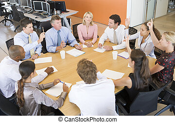 commerçants, réunion, stockage