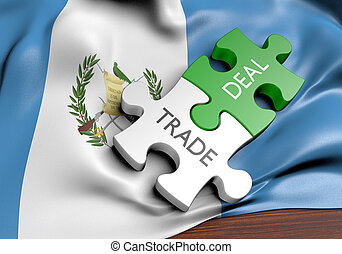 commerce, concept, commercer, affaires, guatemala, international