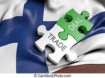 commerce, concept, finlande, commercer, affaires, international