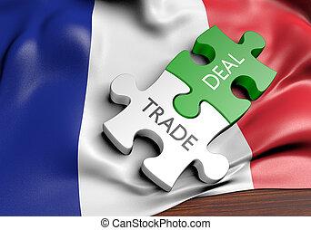 commerce, concept, france, affaires, commerce international