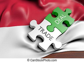 commerce, concept, indonésie, commercer, affaires, international