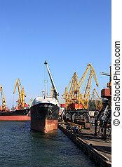 commerce, port maritime