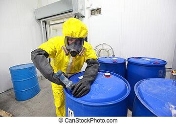 commerce, professionnel, produits chimiques
