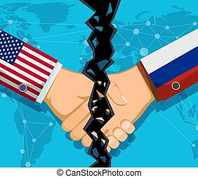 commercer, russie, guerre, politique, entre, usa