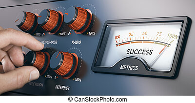commercialisation, campagne, réussi, média, multi-channel, masse