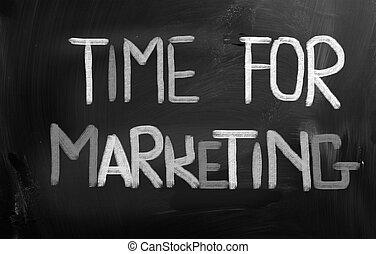 commercialisation, concept, temps