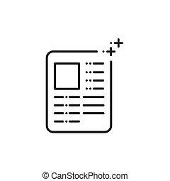 commercialisation, papier, annonce, icônes