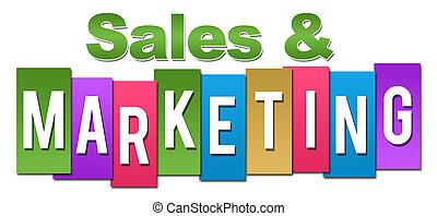 commercialisation, ventes, coloré, professionnel