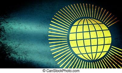 commonwealth, drapeau ondulant, nations