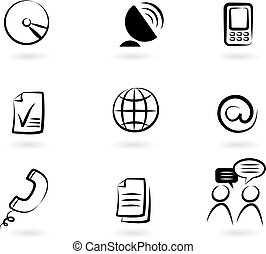 communication, 2, icônes