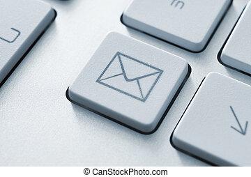 communication, bouton, email, internet