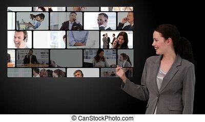 communication, business, montage