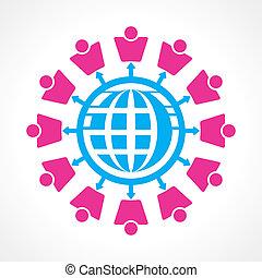 communication, concept, réseau