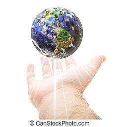 communication, global, mondial, concept