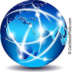 communication, global, mondiale, commerce