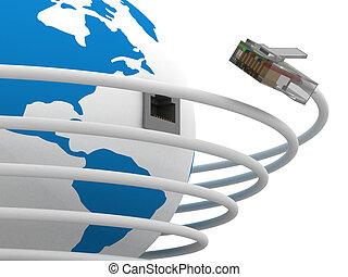 communication, global, world., image., 3d