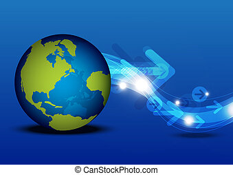communication globale, concept, technologie