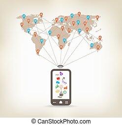 communication globale, smartphone