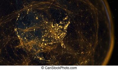 communication, hémisphère, époque, occidental, numérique