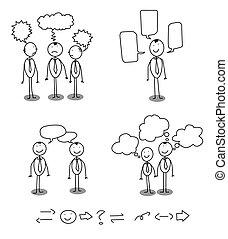 communication, homme