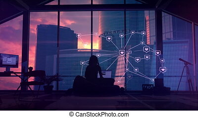 communication, infographics, social, connexions
