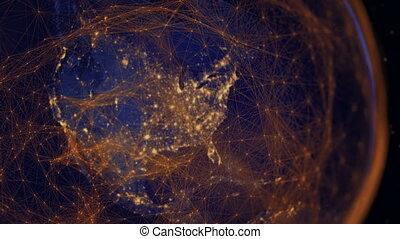 communication, moderne, hemisphere., occidental, époque