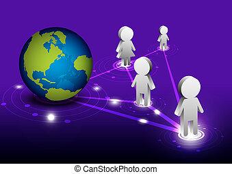 communication, réseau global