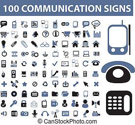 communication, signes, 100