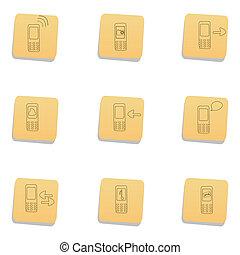 communication, sketchy, icônes