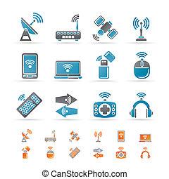 communication, technologie, sans fil