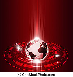 communications, global, technologie