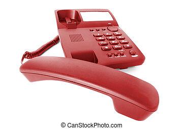 communications., téléphone, bureau