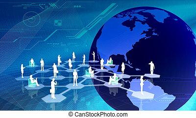 communitty, réseau, social