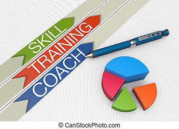 compétence, formation, concept