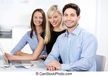 compétent, confiant, equipe affaires