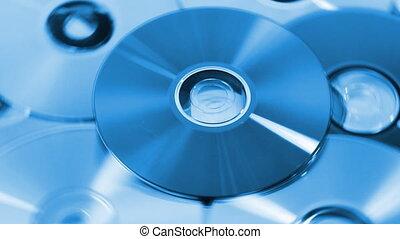 compact, blu, disques, fond