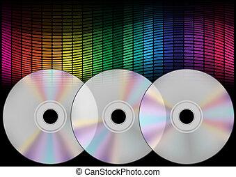 compact, compensateur, disques