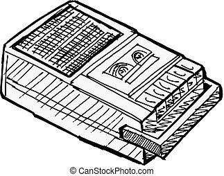compact, enregistreur, bande