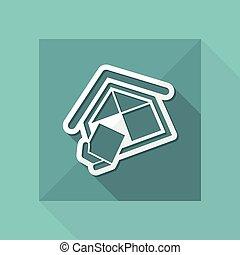 compagnie, construction, symbole