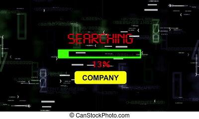 compagnie, recherche, ligne