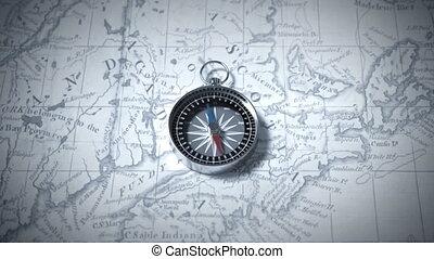 compas, carte