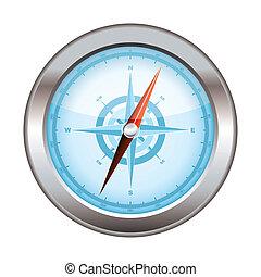 compas, moderne, icône