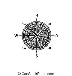compas, symbole, vendange, signe